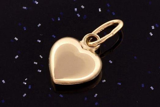 Zlatý přívěsek  srdce P066 14kt,0,20g