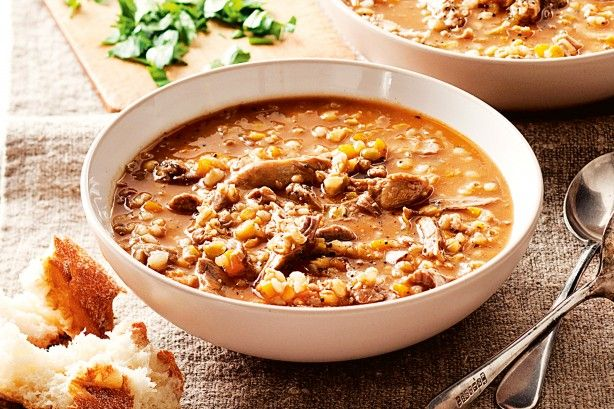 morocan lamb shank and lentil soup This nourishing winter soup is a complete meal in a bowl.