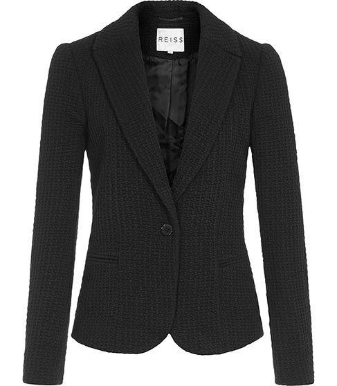 Sota Black Textured Blazer - REISS