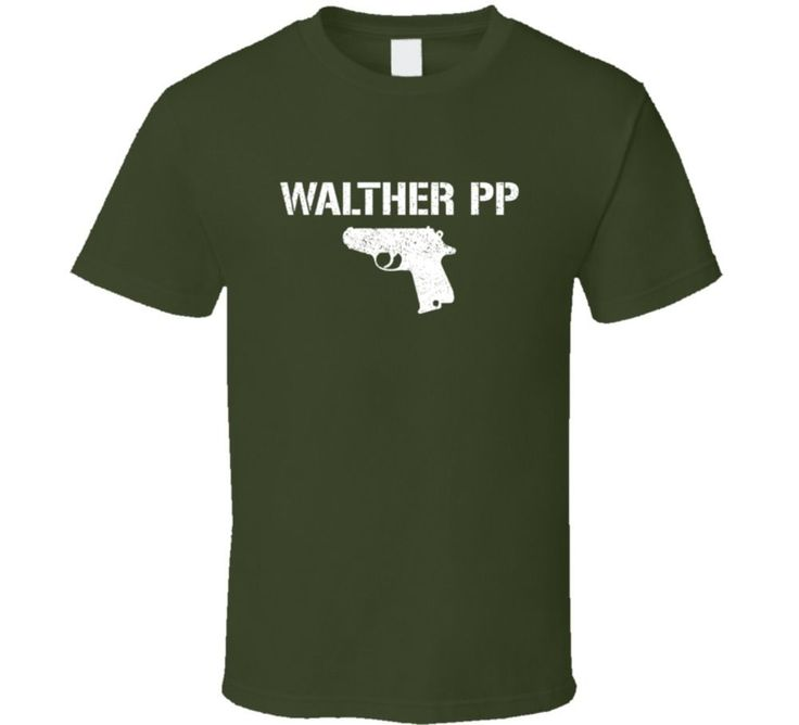 2017 Men'S Walther Pp Pistol Military Distressed Design Men'S Fashion Printed T Shirt Hot Sales Tee Shirts Hipster Tops #Affiliate