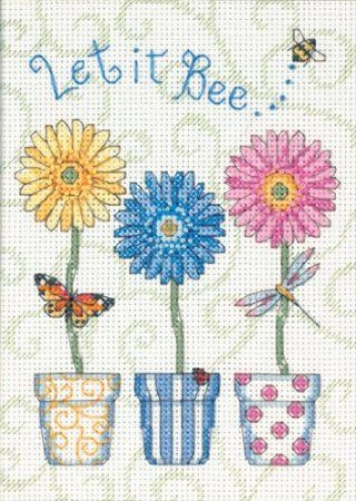 Amazon.com: Dimensions Needlecrafts Counted Cross Stitch, Let It Bee: Arts, Crafts & Sewing