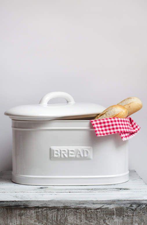 Keramický chlebník - bílý Anglická sezóna