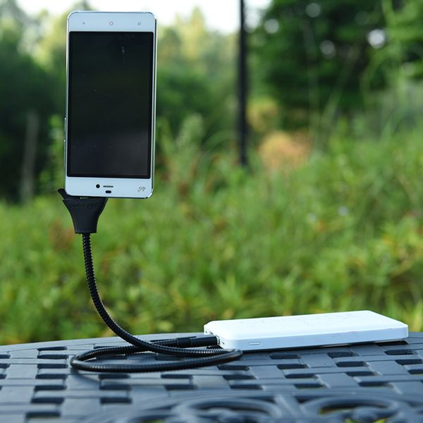Description: This flexible smartphone dock and charging cable is the ideal must-have tech-accessory! Convenient to use for navigation, travel, commuting and le