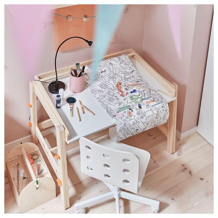 Flisat childrens desk adjustable ikea childrens desk