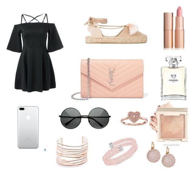 """🎟"" by isagarcia18 on Polyvore featuring moda, Soludos, Yves Saint Laurent, Alexis Bittar, Swarovski y Chanel"