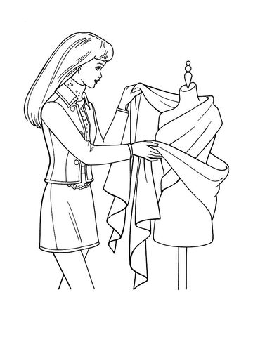 85 best Fashion Colouring Pages images on Pinterest Barbie