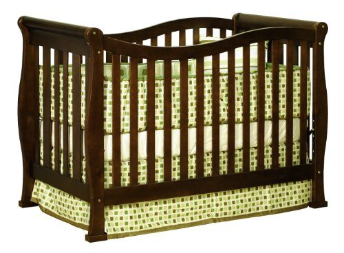 Athena Nadia 3 in 1 Crib with Toddler Rail, Espresso - http://www.discoverbaby.com/new-arrivals/furniture/athena-nadia-3-in-1-crib-with-toddler-rail-espresso/