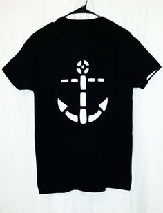 anchor cutout t shirt by sassysedgydesigns on etsy