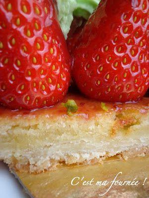 C'est ma fournée ! : L'incomparable tarte fraise/pistache de Michalak...