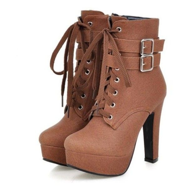 Plus Size Platform High Heels Women Riding Ankle Boots ❤ liked on Polyvore featuring shoes, boots, ankle booties, ankle boots, high heel bootie, ankle bootie boots, platform ankle booties and platform booties