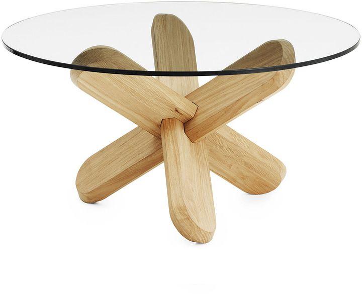 Normann Copenhagen Ding Table Glass/Oak