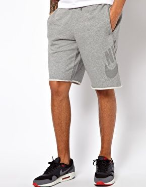 Image 1 of Nike Sweat Shorts With Retro Logo  9c311d6e297e