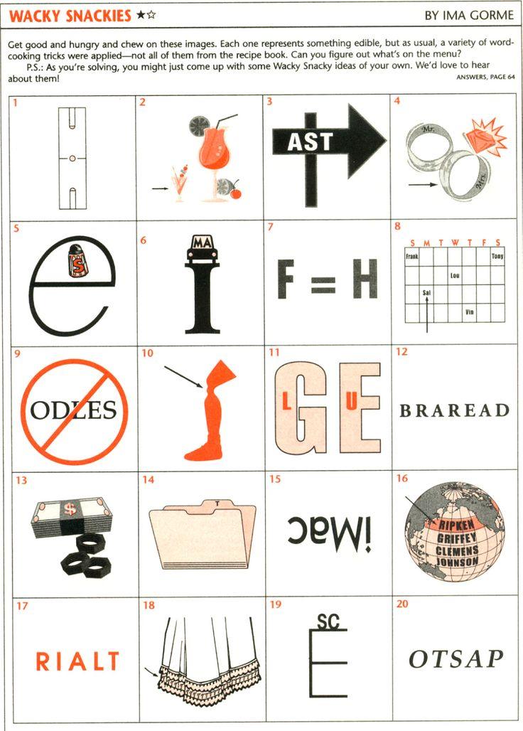 Wackie Wordies 73 Word brain teasers, Word riddles
