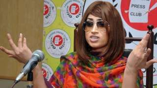 "Image copyright                  AP Image caption                                      Ms Baloch will be remembered for her brief rise to fame through the unregulated platform of social media                                In one of her last posts on Facebook before her murder, Qandeel Baloch wrote: ""No matter how many times I will be pushed down, I am a fighter, I will bounce back… ""Qandeel Baloch is an inspiration to those ladie"