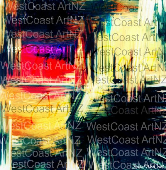 Night Life (2014) Artist: Rekha WestCoast  #art #artgallery #artwork #painting #digitalart #abstractart #modernart #acrylicpainting #oilpainting #artforsale #tumblr #facebook #ebayart #design #saatchiartgallery #artpeople #newzealand #artists #creative #drawing #paint #nightlife #waterfront #green #black #yellow #red #purple