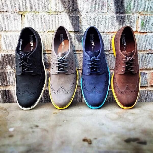 Coloured Timberlands, for the stylish gentleman
