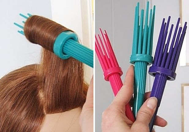 "Curl Easy Pro Brush - ""victory roll"" life hack"