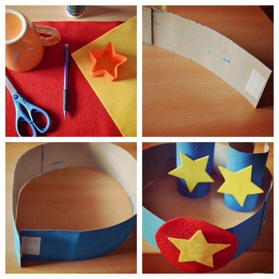 DIY déguisement Super Heros ceinture en carton et feutrine