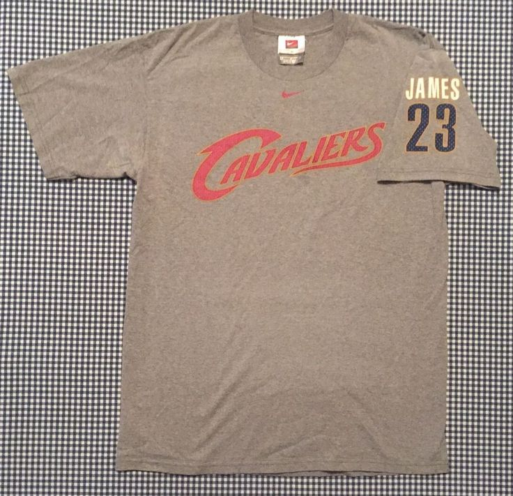 LeBron James Cleveland Cavaliers Player Sleeve T-Shirt Size Medium Gray King NBA #Nike #ClevelandCavaliers