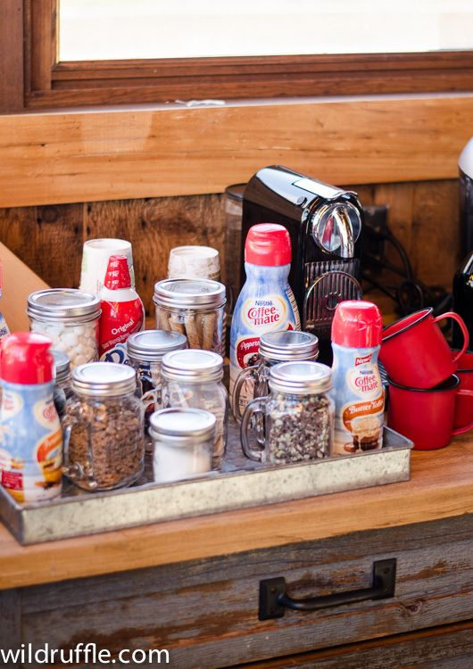 Host your friends in the morning and set up a coffee bar with all the fixings - easy entertaining!
