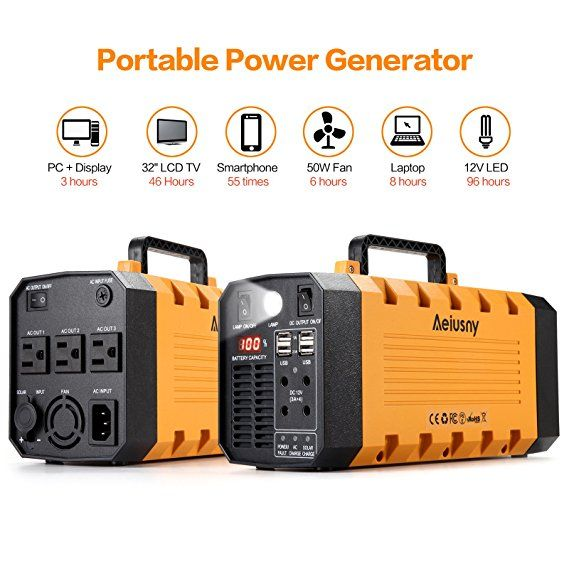 Amazon Com Solar Portable Generator Aeiusny 288wh Ups 500w For Home Camping Cpap Emergency Backup Solar Char Portable Generator Solar Panels Solar Generator