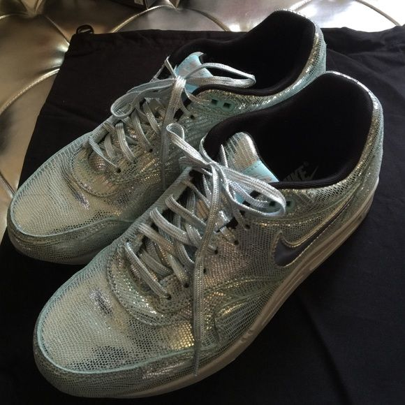Rare Nike Disco air max trainers Metallic Nike women's trainers- worn once, no marks- received as gift- they are in their original box. Nike Shoes