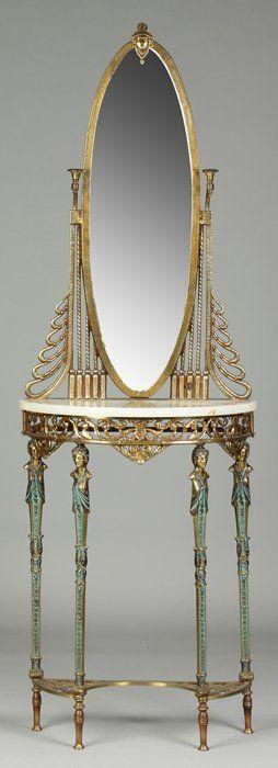 Patinated Bronze Art Deco Hall Table : Lot 469 #artdecofurniture