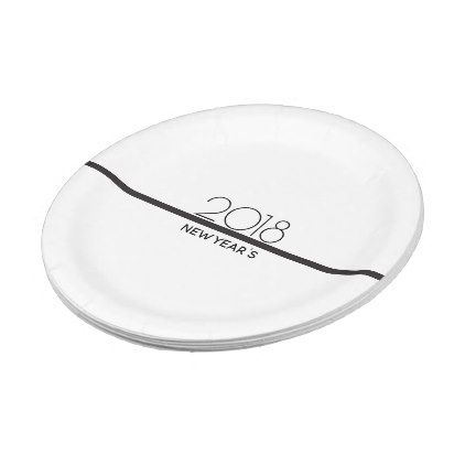 Minimalist New Years Celebration | Paper Plates - kitchen gifts diy ideas decor special unique individual customized