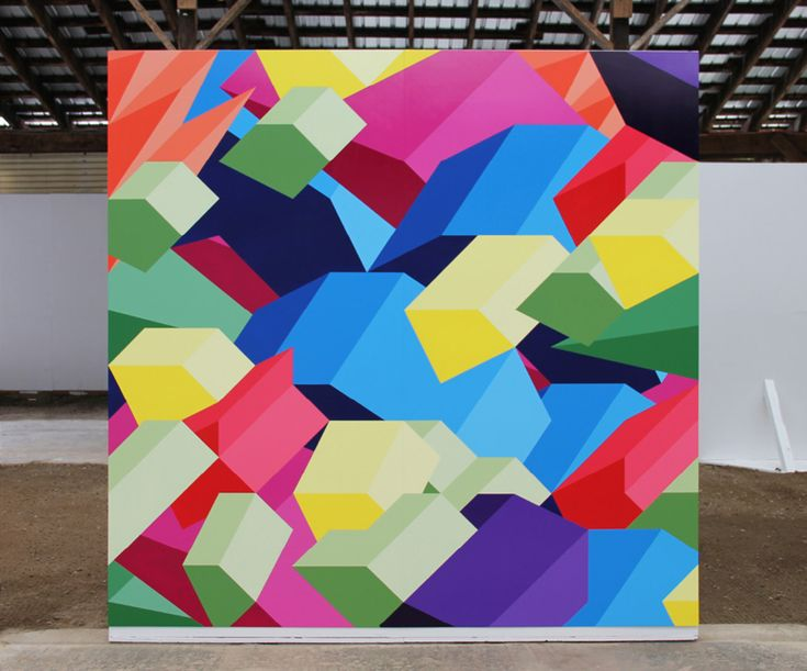 Bold geometric paintings by Adam Daily via @michaelcroxton on thefoxisblack.com