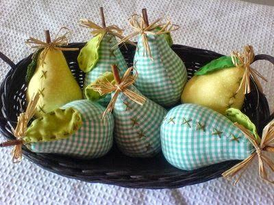 . . . . .Quintal das Cores . . . . ( 11 ) 3871 - 5957 : PAP das peras em tecido