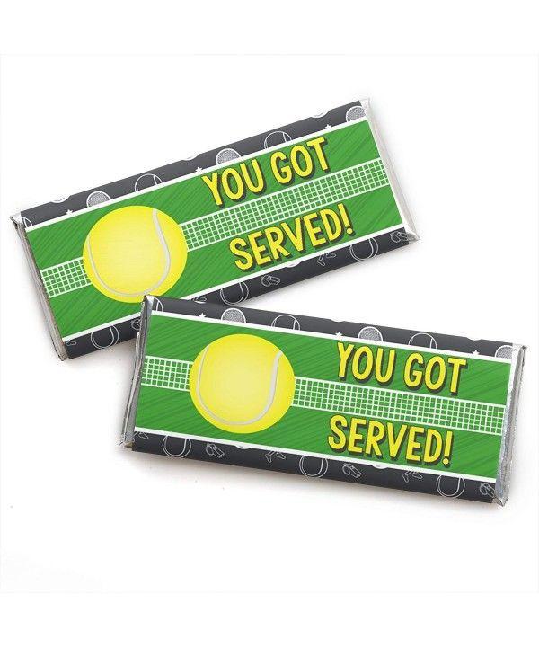 Sie haben Tennis Candy Bar Wrapper Baby-Dusche oder Tennisball Birthday Party Favors Set von 24 CJ180T0QO6G serviert