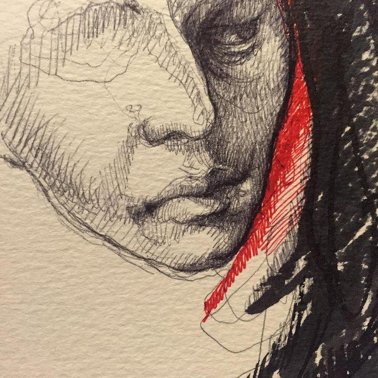 #draw #workinprogress #dessin #dessindumatin #drawing #art #artist #artlyon #artdirector #artcontemporain #artfine #pen #paper #canson #rouge #feutre #bic #streetart #lyon #lyoncity #paris #bruxelles #venissieux by olivier_fischer