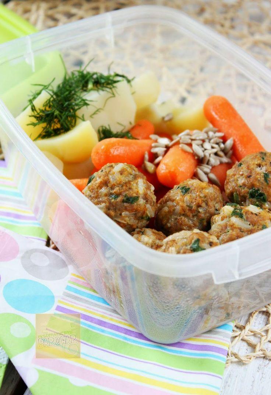 Ekscentryczny Parowar: Lunchbox #2.Pulpeciki mięsno-ryżowe z parowaru