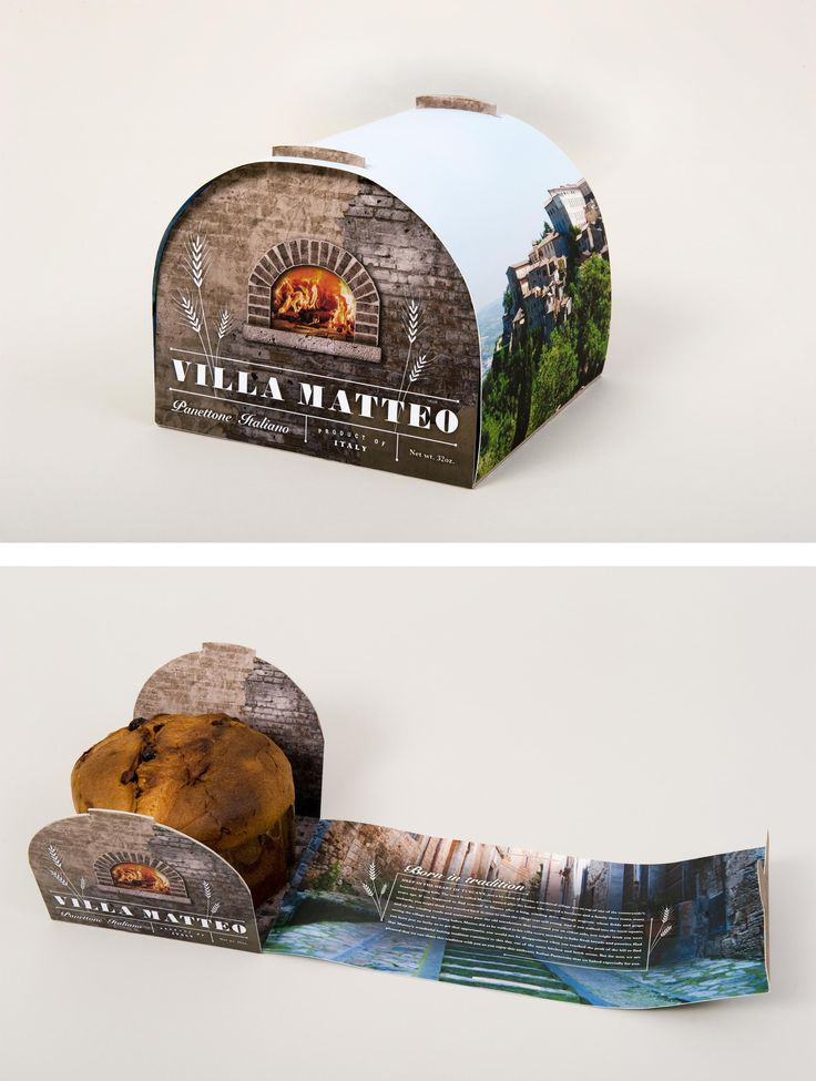 Packaging design for panettone (Italian sweet bread) created by