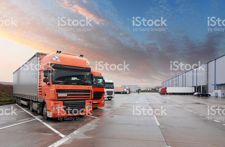 Truck in warehouse - Cargo Transport royalty-free stock photo