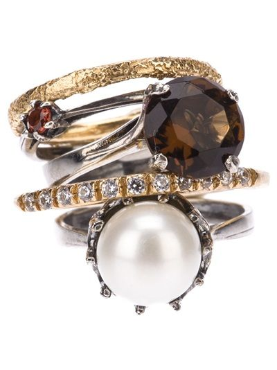 IOSSELLIANI Stack Rings Set With Pearl