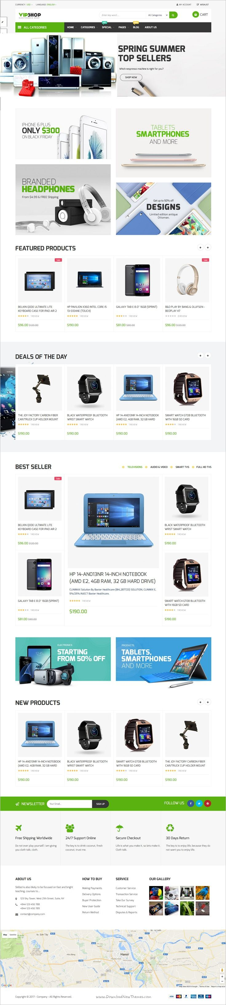 Pts Vipshop is a beautiful & creative design @Prestashop theme for creative #electronics #store eCommerce #website with 4 unique homepage layouts download now➩ https://themeforest.net/item/pts-vipshop/18528130?ref=Datasata