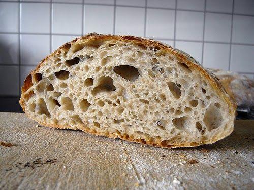 Ljust bröd på rågsurdeg. Från Pain de Martin