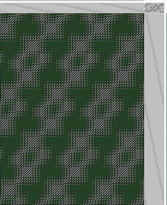 Hand Weaving Draft: Inouye Bonnie, advancing 5, tie-up 12774: Tie-up from Old German Book, draft 12774, Bonnie Inouye, 16S, 32T - Handweaving.net Hand Weaving and Draft Archive
