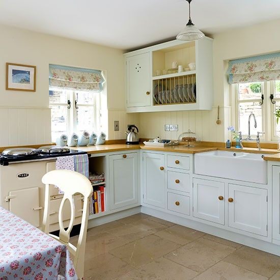 blue country kitchens house tour stove kitchens and cottage house 1724