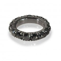 catherine angiel black diamond eternity band | Circle & Square | RINGS - Jewelry