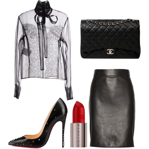 A fashion look from July 2016 featuring Rochas blouses, Tom Ford skirts and Christian Louboutin pumps. Browse and shop related looks.