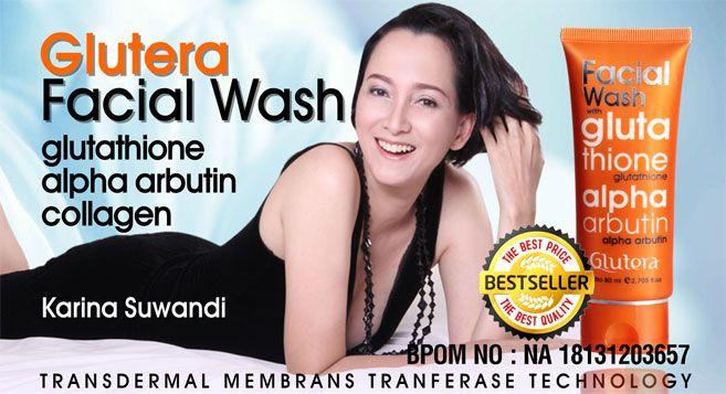 Glutera Facial Wash, sebuah produk pembersih wajah yang membuat kulit begitu bersih dan tampak putih, yang merupakan inovasi Glutera dengan teknologi