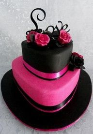 Take away the two black layers add flowers around the edge and write Happy Birthday Liv.