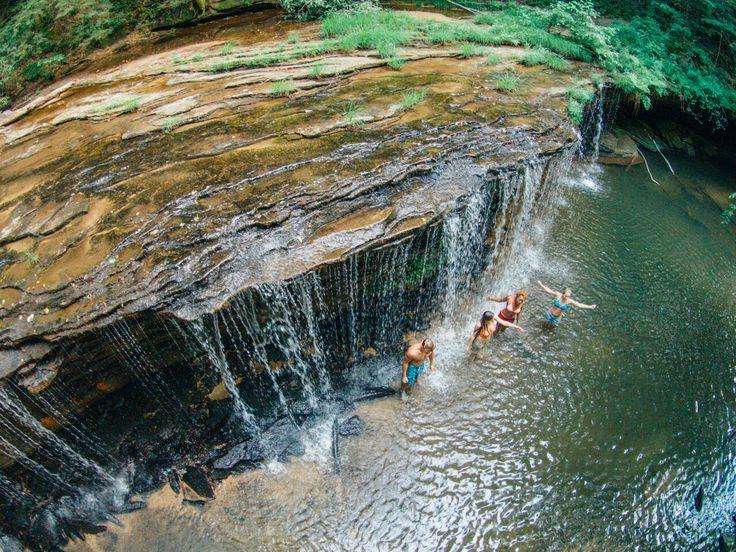 Refreshing Princess Falls on a hot Kentucky summer day! #kentucky #waterfall