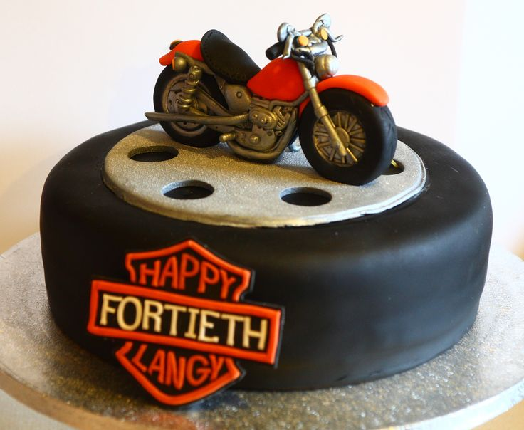 Sugarpaste Bike On A Cake Wheel Cakes Motos Y