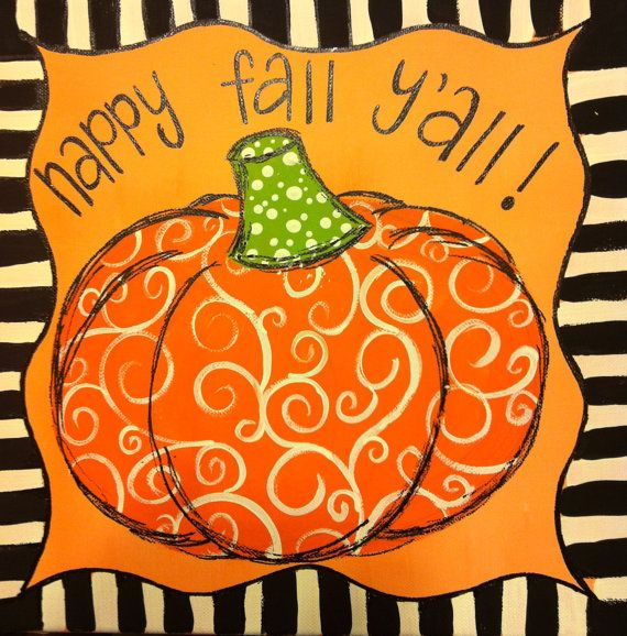 Pumpkin Fall Canvas by WHIMSYandSWEET on Etsy, $25.00