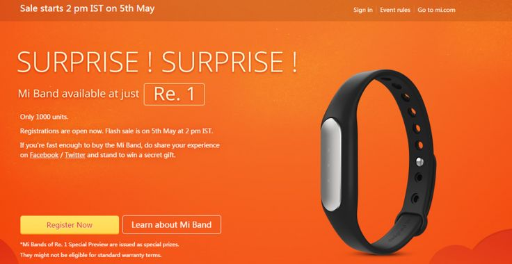 Xiaomi MiBand Wearable Sold for just 1 Rupee!  Registrations Open Now!    #MiBand #GrabOn