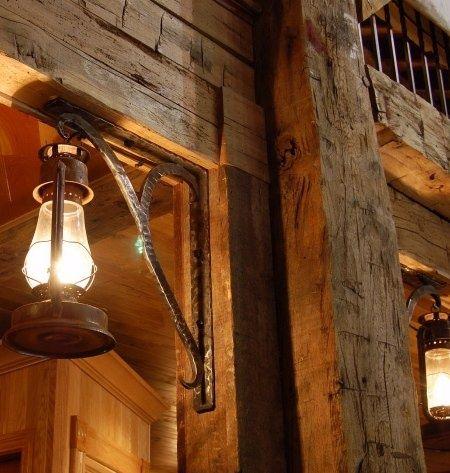 Hand Hewn Beams Barn Lighting And Beams On Pinterest