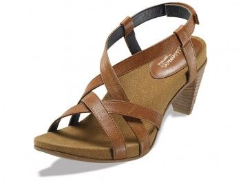 New for Spring 2013! Ashley Heeled Sandal - Ginger/Wheat, $129.95 #aetrex #heels